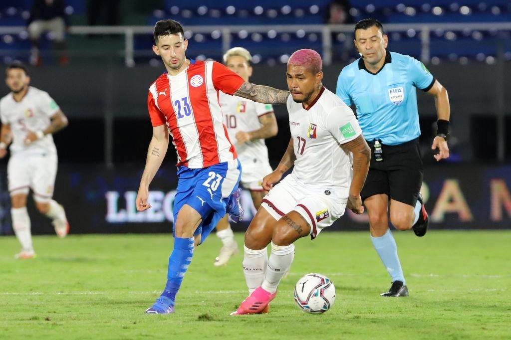 Josef Martínez en la derrota de la Vinotinto ante Paraguay