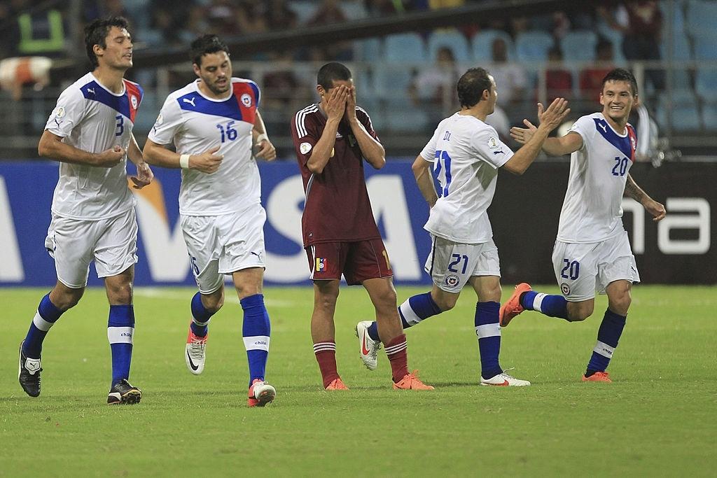 Roberto Rosales en el Venezuela vs Chile del Premundial 2014