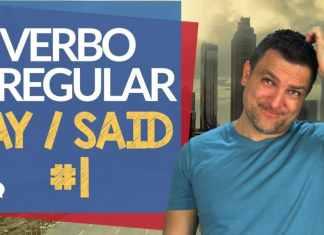 verbo irregular say