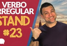 verbo irregular stand