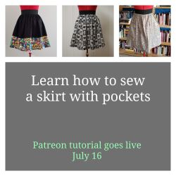 Link to Skirt With Pockets Tutorial on Patreon