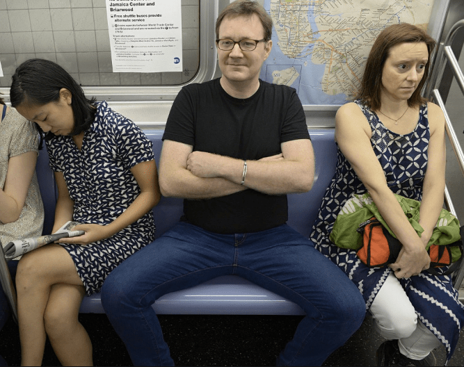 Man spreading one