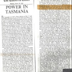 Canberra Times Editorial March 29, 1982