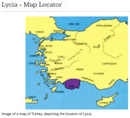 Location of Lycia