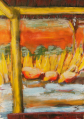 Lake at the brick field - for my love - oil on board - by Belinda Borradaile AKA Idiot Writer