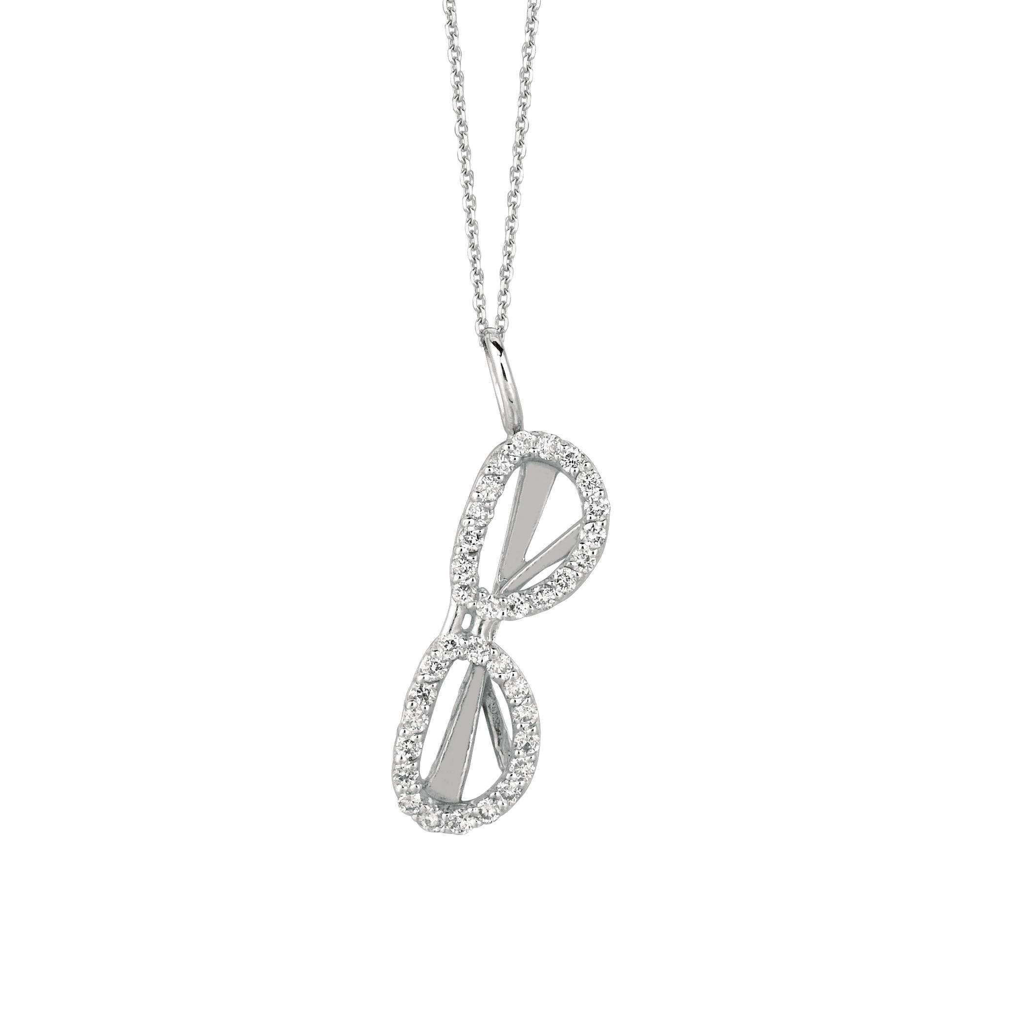 0 25 Ct Diamond Sunglass Necklace Set In 14k White Gold Idjn Wd