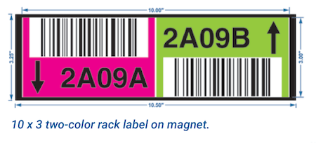 warehouse rack and bin location labels
