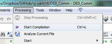 Virtual Com Port Connection to DE0-Nano - vj-uart