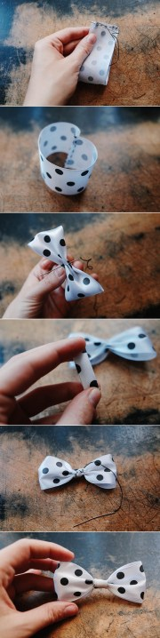 make ribbon bow - 3 ways