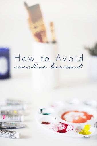 Tips for Avoiding Creative Burnout @idlehandsawake