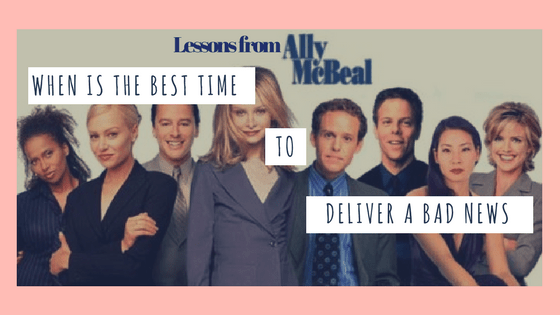 When Is the Best Time to Deliver a Bad News?