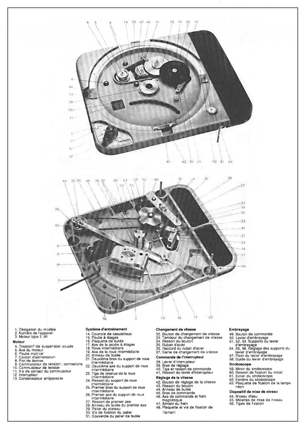 THORENS idler :: Nomenclature de la TD 124