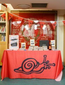 Bookstall at the Marx Memorial Library with Spanish Civil War banner