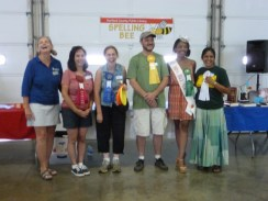 Finalists in the Spelling Bee, Adult Category. Harford County Farm Fair, 2015