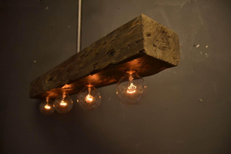 Reclaimed Wood Chandelier Light Fixture • Id Lights