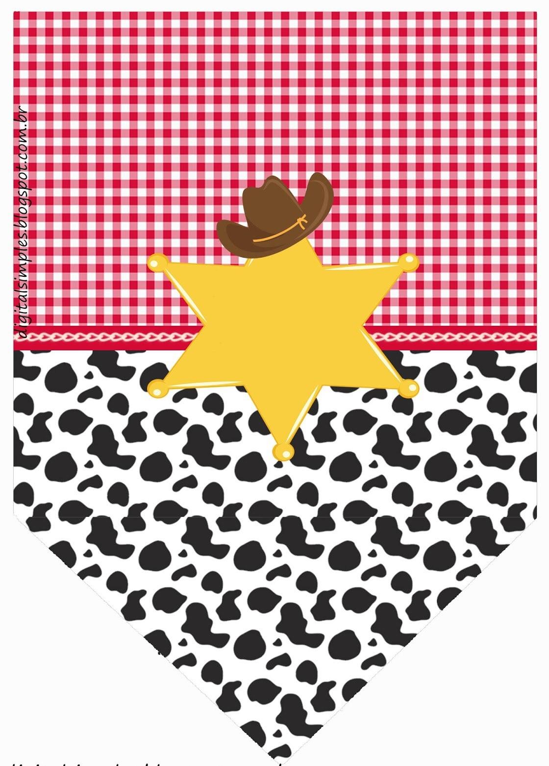 Plantillas para fiesta de vaqueros gratis para imprimir