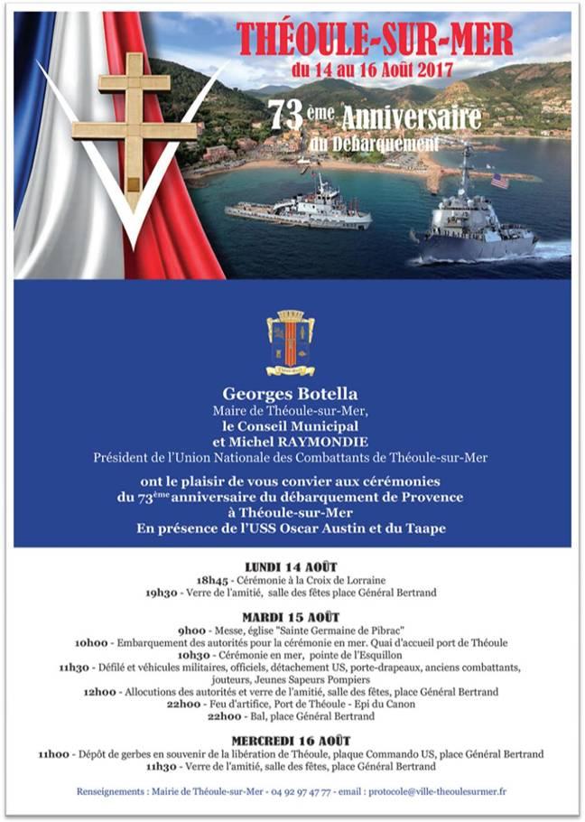 73ème anniversaire du débarquement en Provence …