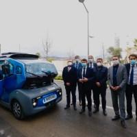 Technopole Nice Méridia ... Premiers essais d'une navette électrique autonome