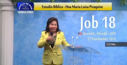 Bibelstudie om Job kapitel 18 av Syster María Luisa i Kendal – USA