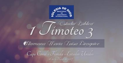 Audio, Estudio Bíblico: 1 Timoteo 3 – Cape Coral, Florida (USA)