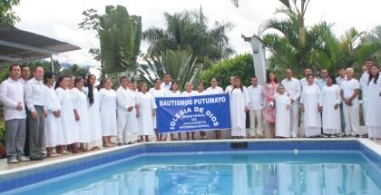 Fotos de los bautismos en Putumayo 2017