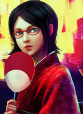 Sarada uchiha artwork by forevermedhok