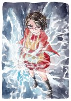 Uchiha sarada by seseyaki d85t5ve water painting