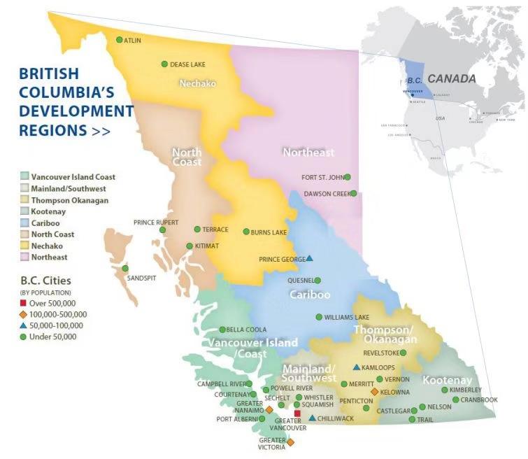 British Columbia's Development Regions