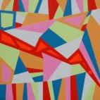 """Painting No. 28 - Title """"America's Economy Crash 08"""" by Abstract Artist Karen Robinson - 2008 NB: All images are protected by copyright laws!"""