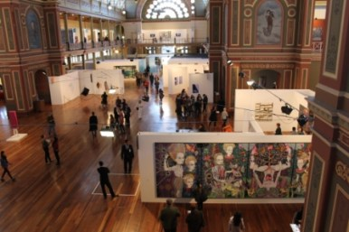 Melbourne Art Fair August 2014 at Royal Exhibition Building Melbourne Australia Photo taken by Karen Robinson whilst visiting IMG_0451.JPG