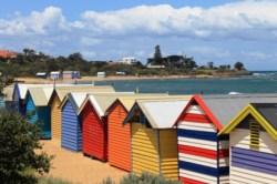 No. 3 Brighton Bathing Boxes at Dendy Street Beach Australia Day Weekend 2015 Photo taken by Karen Robinson.JPG