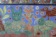 No. 10 of 70 images of MIRKA MORA'S FLINDERS ST STATION MURAL – Melbourne Australia Photographed by Karen Robinson 18th April 2015 NB All images are subject to copyright laws