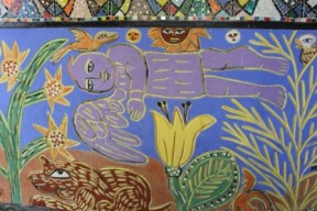 No. 12 of 70 images of MIRKA MORA'S FLINDERS ST STATION MURAL – Melbourne Australia Photographed by Karen Robinson 18th April 2015 NB All images are subject to copyright laws