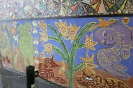 No. 13 of 70 images of MIRKA MORA'S FLINDERS ST STATION MURAL – Melbourne Australia Photographed by Karen Robinson 18th April 2015 NB All images are subject to copyright laws