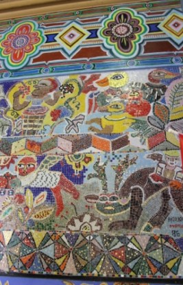 No. 15 of 70 images of MIRKA MORA'S FLINDERS ST STATION MURAL – Melbourne Australia Photographed by Karen Robinson 18th April 2015 NB All images are subject to copyright laws