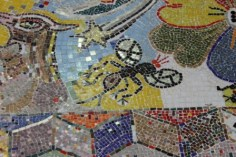 No. 18 of 70 images of MIRKA MORA'S FLINDERS ST STATION MURAL – Melbourne Australia Photographed by Karen Robinson 18th April 2015 NB All images are subject to copyright laws
