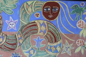 No. 8 of 70 images of MIRKA MORA'S FLINDERS ST STATION MURAL – Melbourne Australia Photographed by Karen Robinson 18th April 2015 NB All images are subject to copyright laws