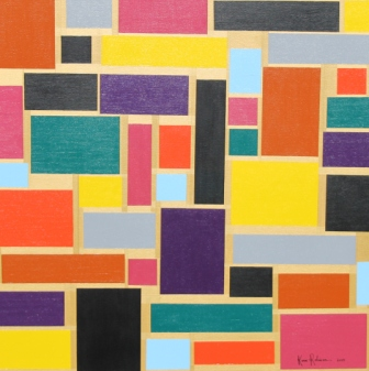 "Painting No. 60 – Title ""Brick Wall"" May 2015 – by Abstract Artist Karen Robinson NB All images are protected by copyright laws - Copy.JPG"