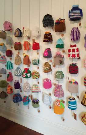 No. 47 of 101 'Teavotion' Group Exhibition of 100's of Teacosies at Bundoora Homestead Arts Centre March 2016 photographed by Karen Robinson