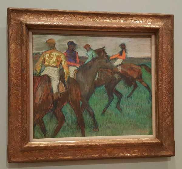 Edgar Degas Pastel On Cardboard