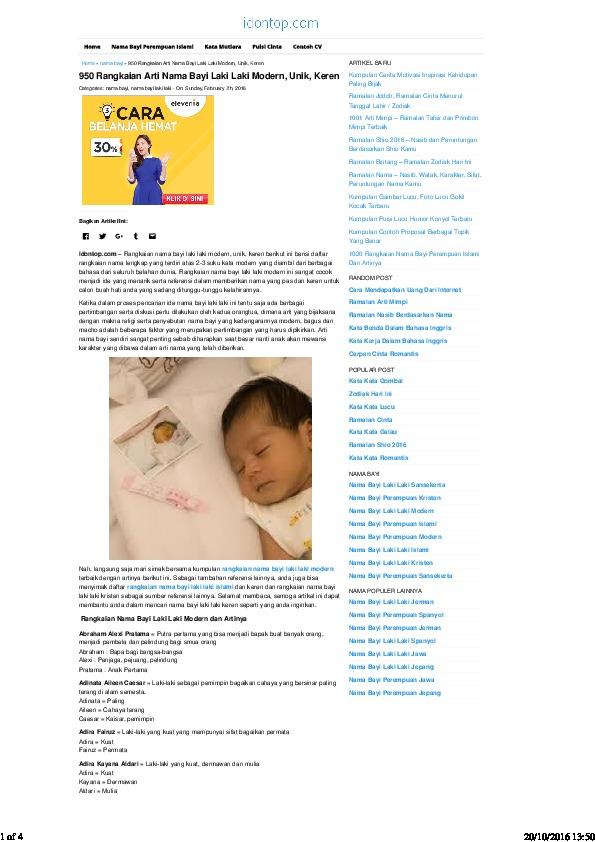 Mimpi Punya Bayi Laki Laki : mimpi, punya, Download, 328247305-950-rangkaian-arti-nama-bayi-laki-laki-modern-unik-keren-idontop-pdf.pdf, [34wpmxpe6yl7]