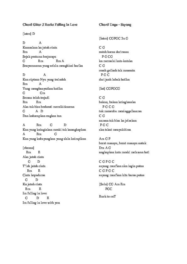 Satu Yang Tak Bisa Lepas Chord : lepas, chord, Chord, Gitar, Rocks, Falling, [d477eq5v0742]