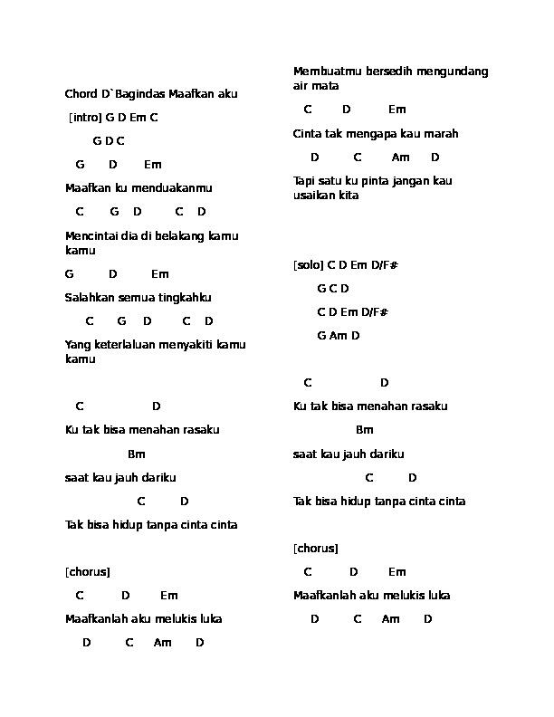 Chord Naif Bencinta Untuk Mencinta C : chord, bencinta, untuk, mencinta, Chord, Bencinta, Untuk, Mencinta