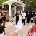 Wedding at The Mansion Austin officiant and bridal party