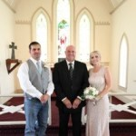 Austin officiant and couple at wedding
