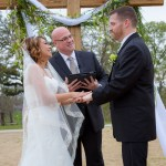 Austin officiant bride and groom at altar