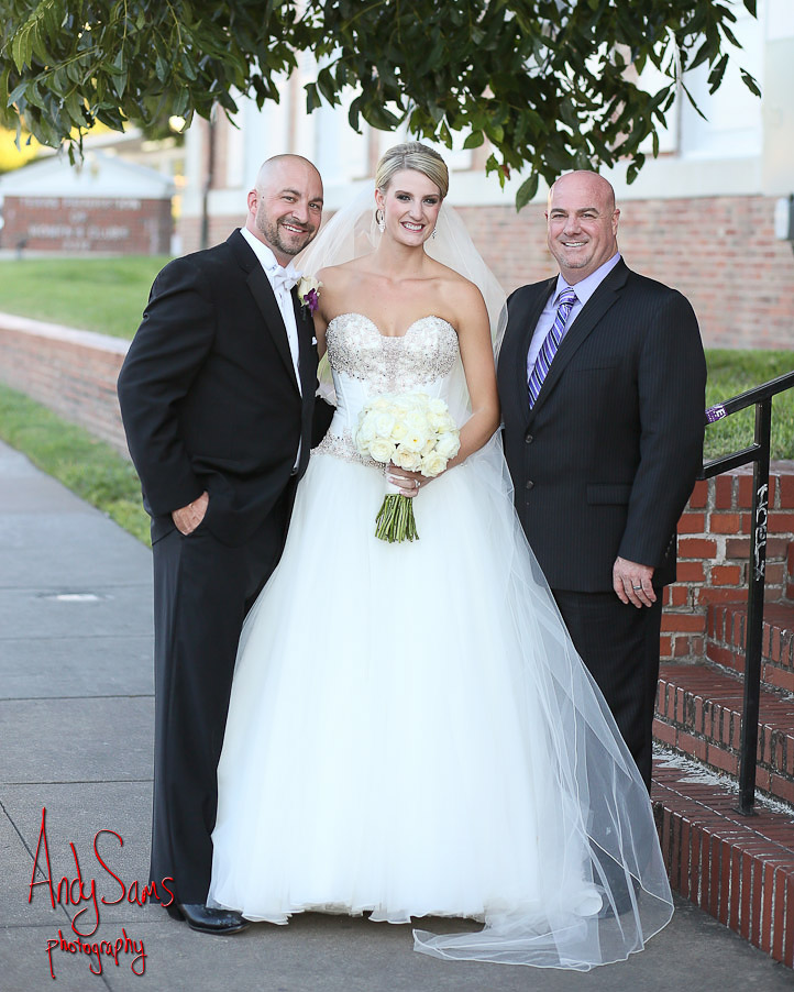 Austin officiant and couple at The Mansion