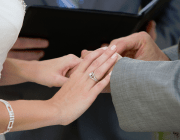 Austin officiant performing Ring Ceremony