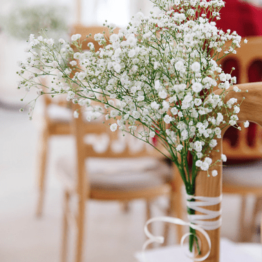 Flowers for chairs
