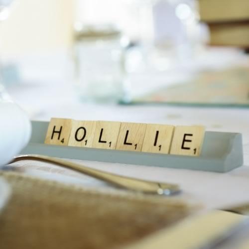 Scrabble letters & rack